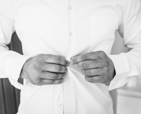 Getting Ready, Hochzeitsfotos, Vorbereitungen, Hemd, Dittelbrunn