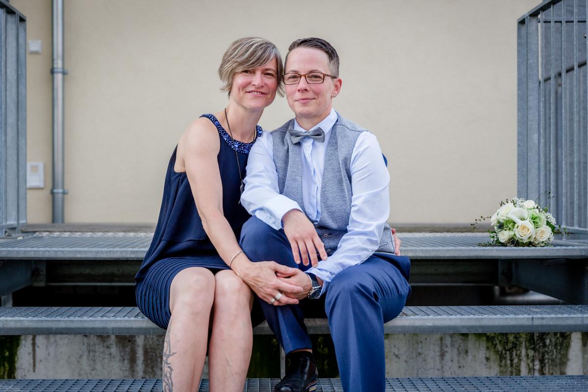 Gay Marriage, Lesbische Hochzeit, Frauenhochzeit, Gleichgeschlechtliche Hochzeit, Lesbisch, Mainz