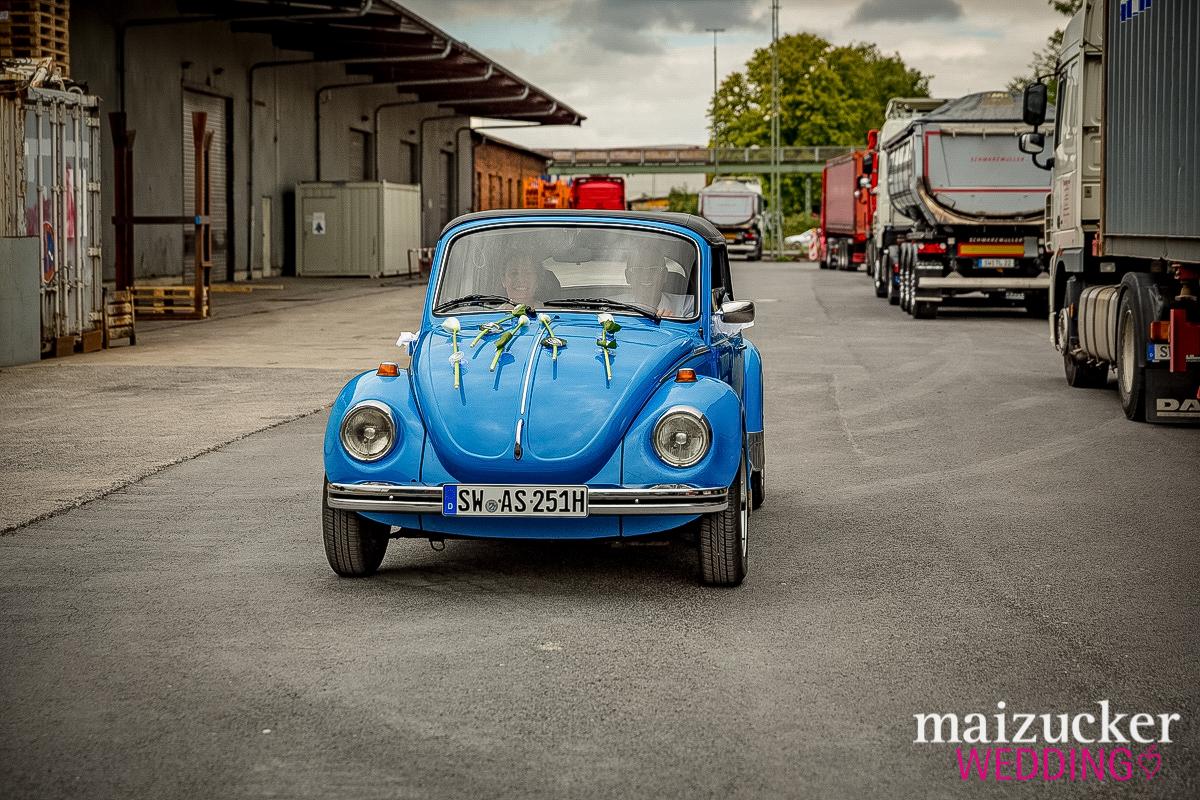 maizuckerwedding, Hochzeit, Unterfranken, Hochzeitsfotos, Schweinfurt, Wedding, Hochzeitsportraits, Hafen, VW Käfer