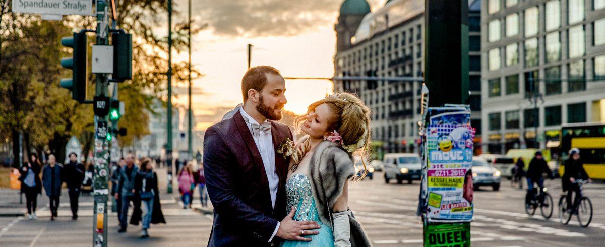Romantische Hochzeitsfotos, Paarshooting, Berlin