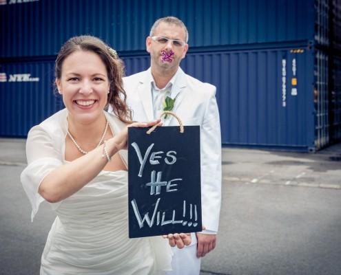 Witzige Hochzeitsfotos, Paarshooting, Schweinfurt