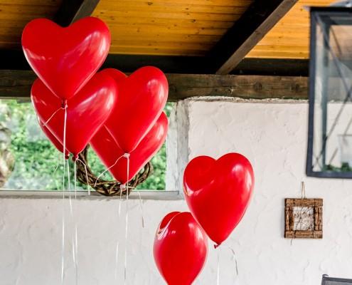Detailfoto Hochzeit, Wedding, Luftballons