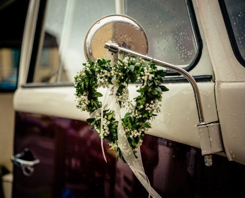 Autoschmuck, Detail, Detailfoto Hochzeit, Wedding