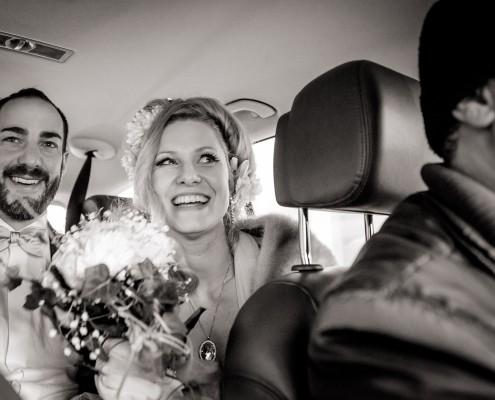 Ausgefallene Hochzeitsreportage, Auto, Berlin