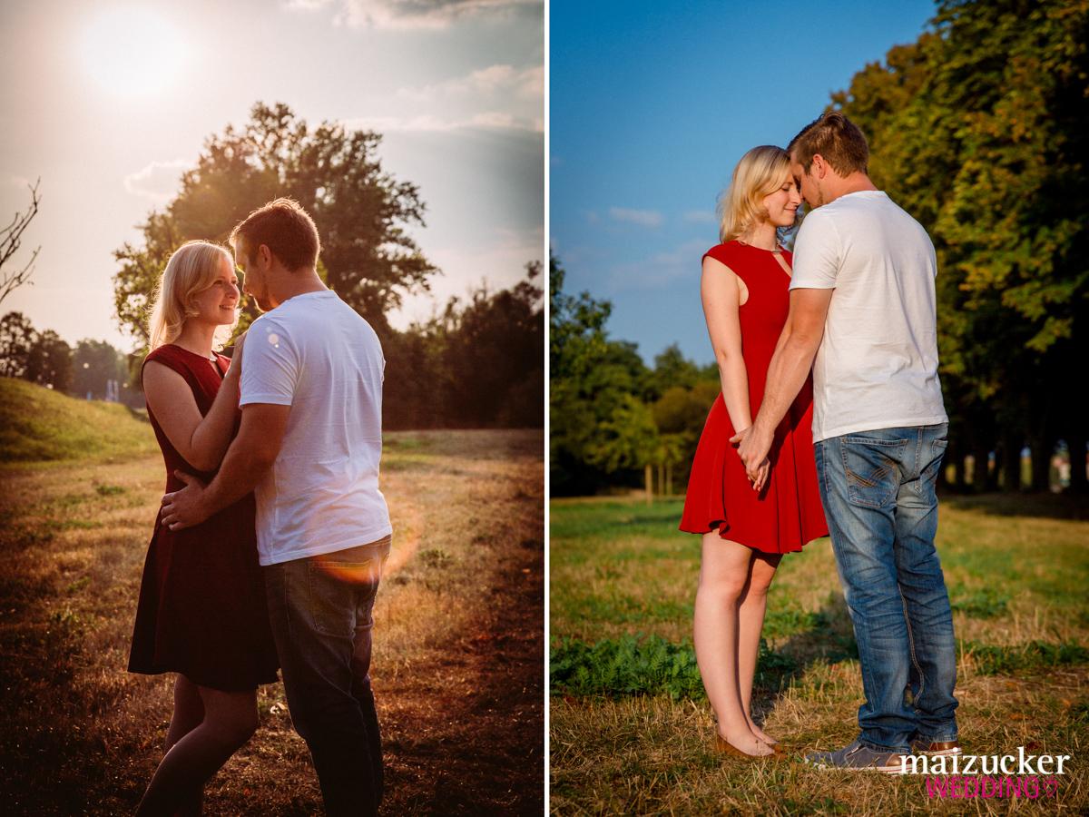 Engagementshooting in Schweinfurt, Janine und Björn, Hochzeitsfotografin Daggi Binder, maizucker