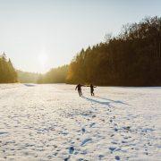 Engagement Shooting im Schnee, Heiraten 2017, Hochzeitsfotografin Daggi Binder, maizucker-wedding